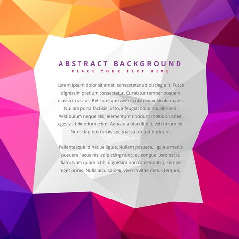 abstract low poly colorful background