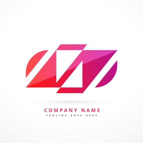 abstract colorful logo design illustration