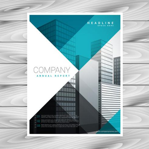 blue business brochure template for your company