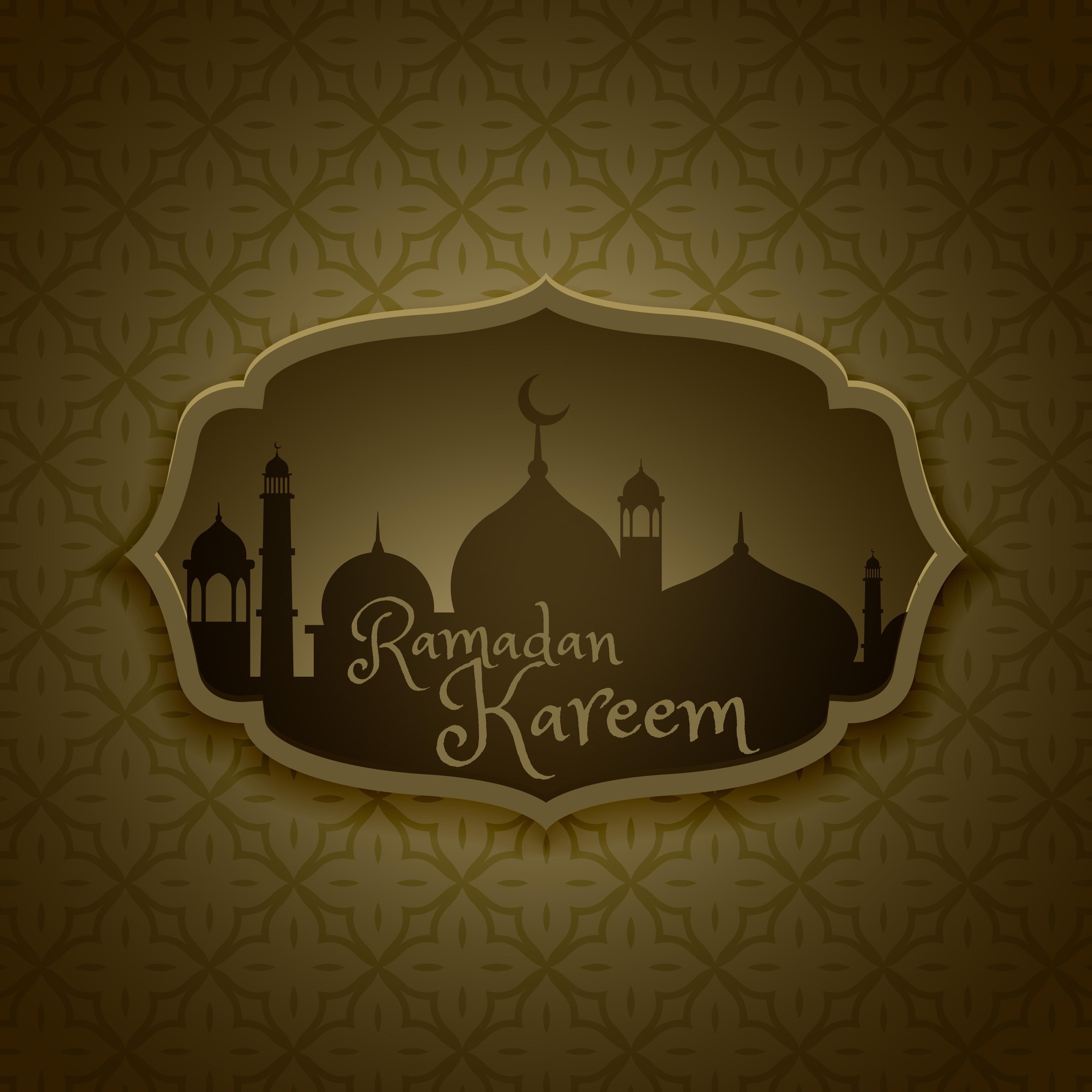 Islamic Ramadan Festival Greeting Design Download Free Vector Art