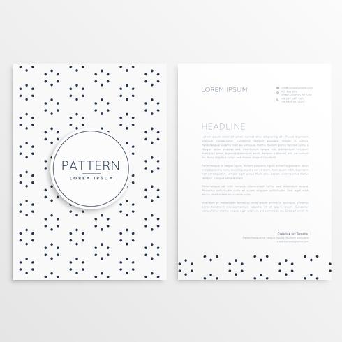 company leaflet design with pattern decoration
