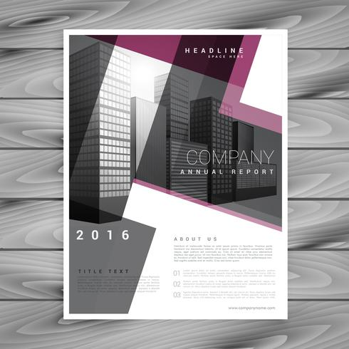 geometric brochure flyer design template