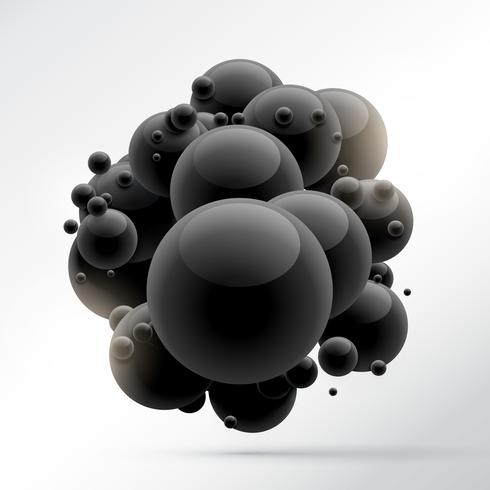 group of black molecules