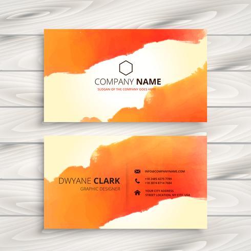 encre orange carte d'identité corporative modèle vectoriel design illust
