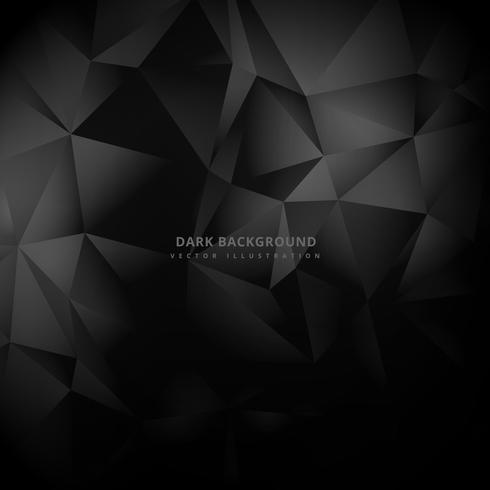 triangle low poly dark background vector design illustration