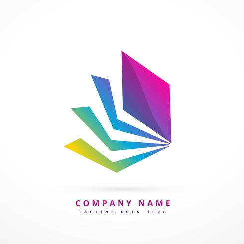 abstract shape colorful logo template design