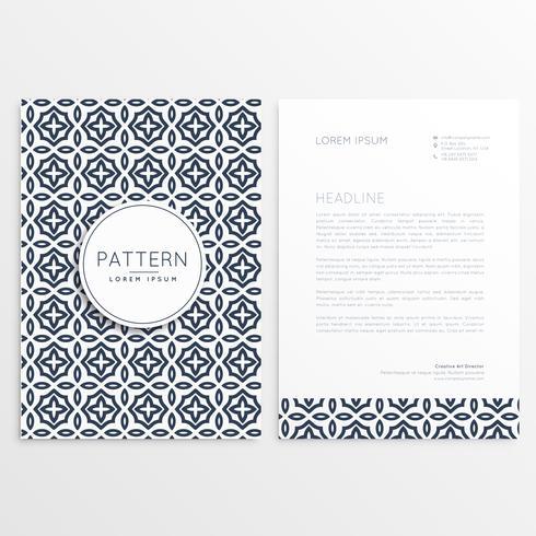 folheto de modelo de capa de papel timbrado