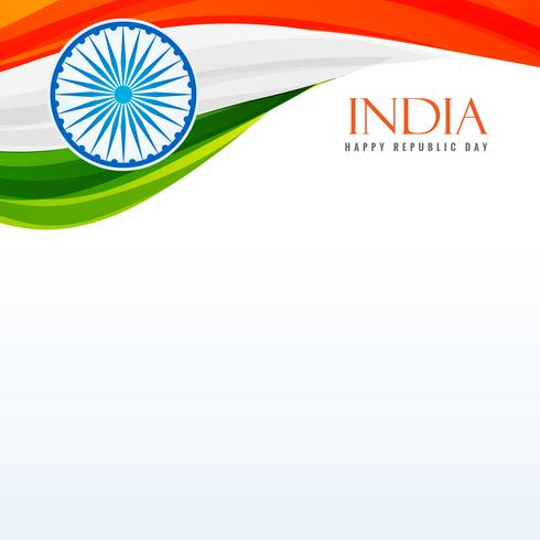 tricolor indian flag background vector design illustration