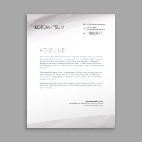 clean minimal letterhead business template vector design illustr