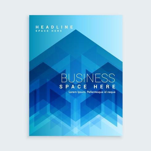 business brochure template with blue abstract shapes