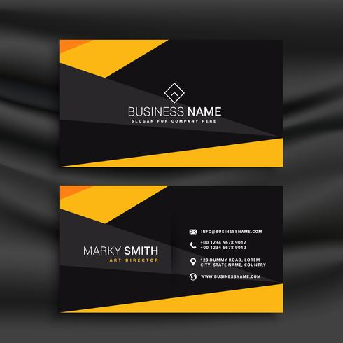 Yellow and black dark modern business card download free vector yellow and black dark modern business card reheart Gallery