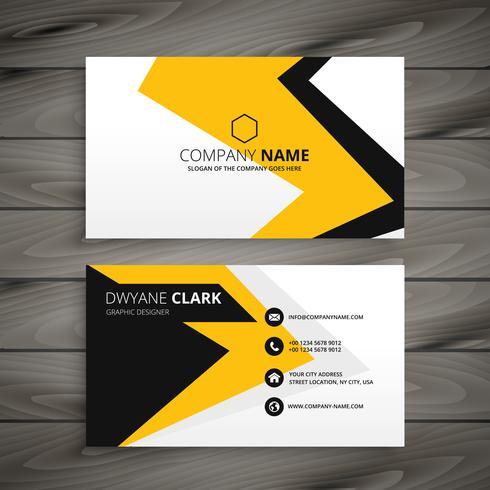 creative corporate business card template vector design illustra