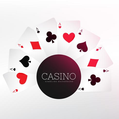 casino playing cards background