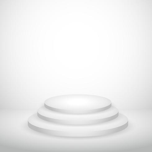 white empty background with podium