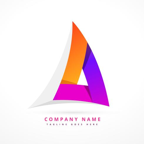 abstract shape logo template design illustration