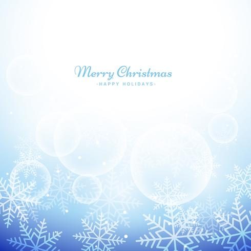 winter christmas snowflakes background