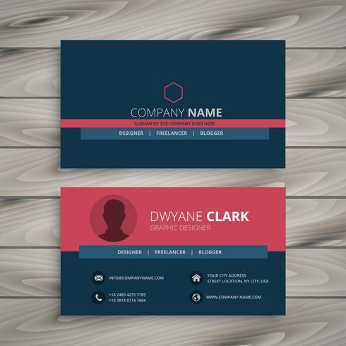 clean modern corporate business card template vector design illu