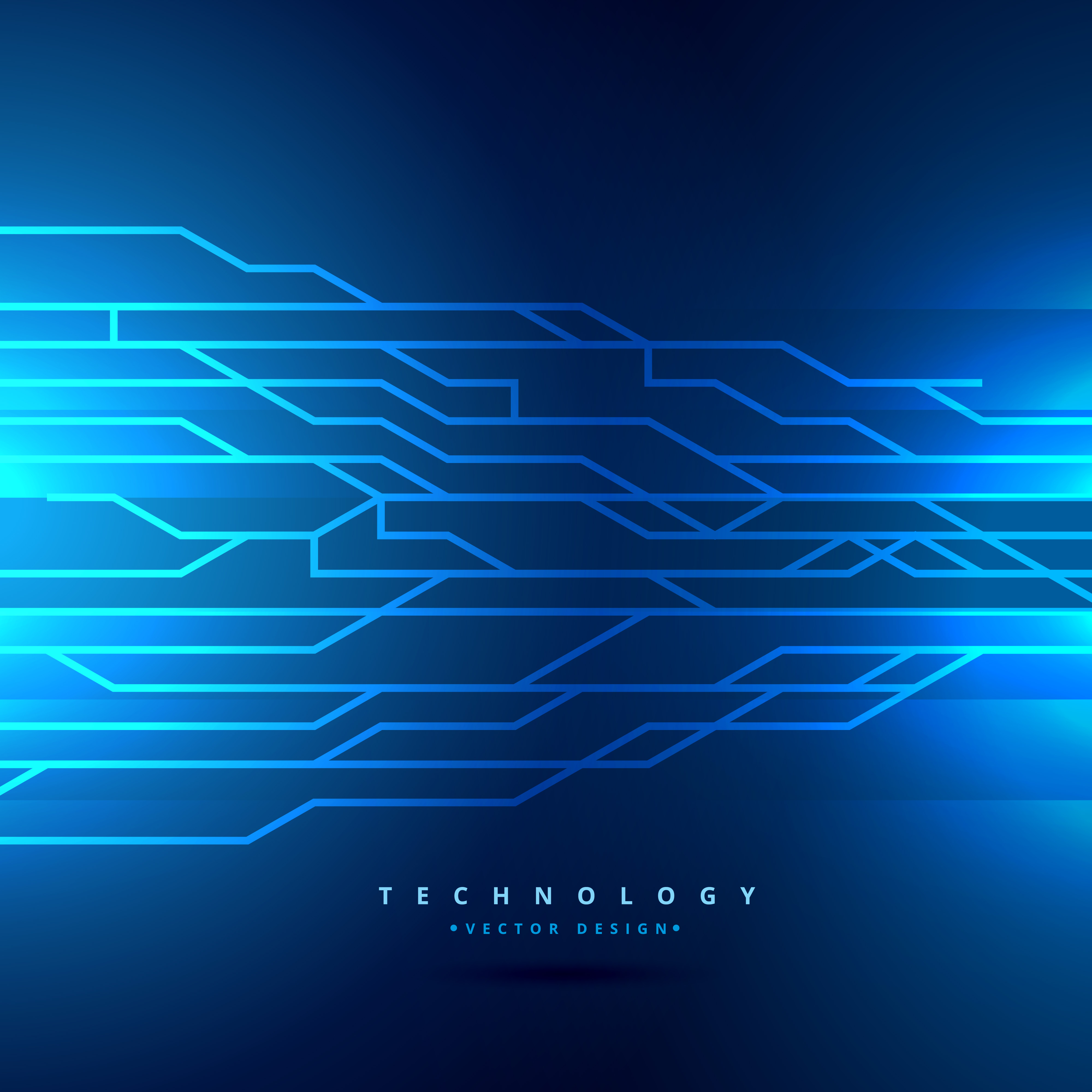 Digital Technology Style Background Vector Design