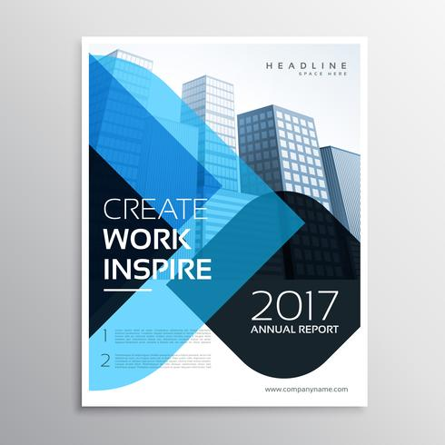 modern blue business presentation brochure template for annual r