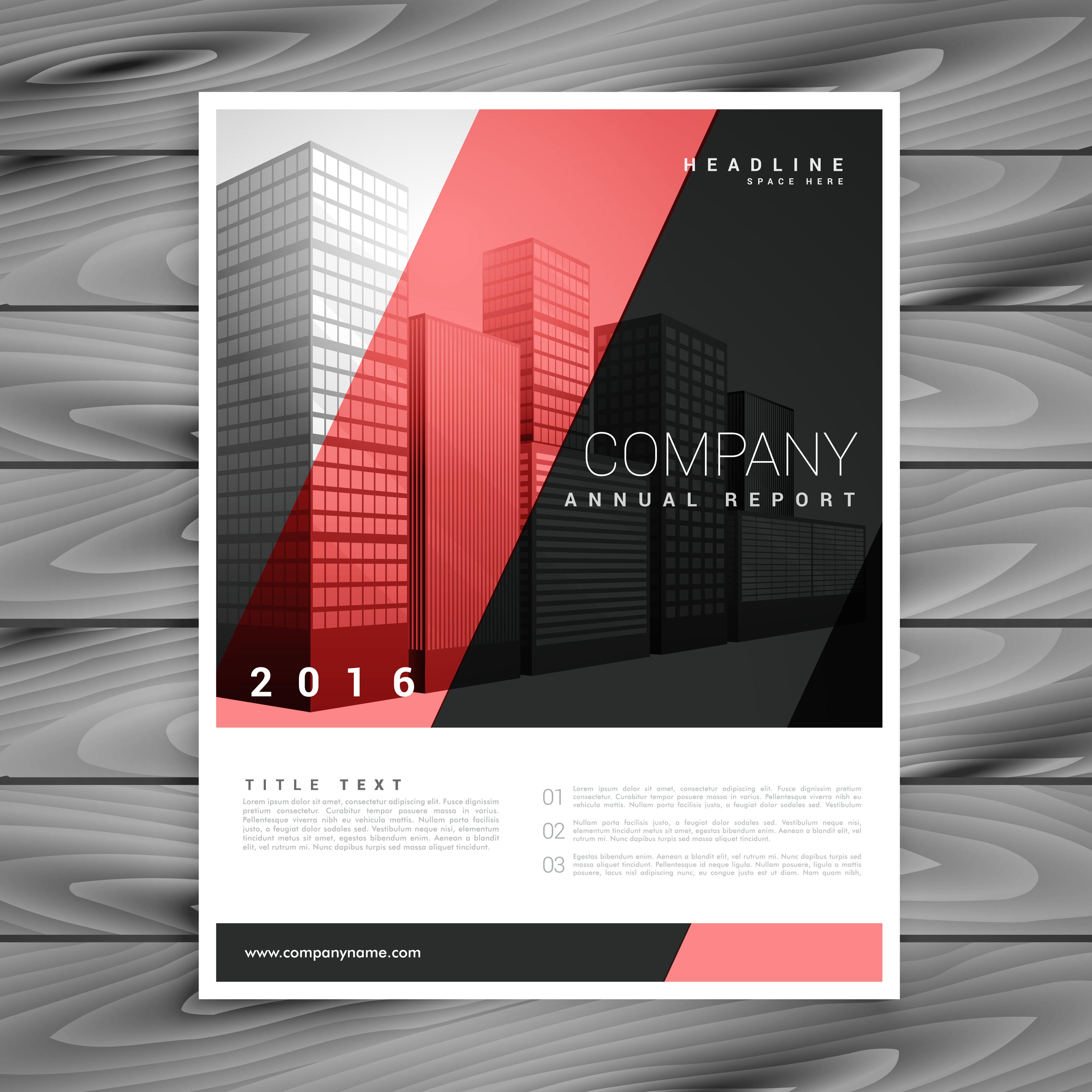 red and black modern brochure flyer design template