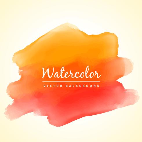 orange watercolor paint stain vector design illustration