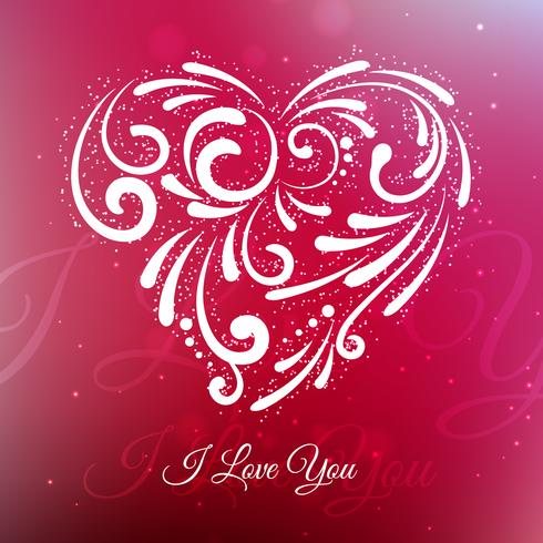 creative love heart background vector design illustration