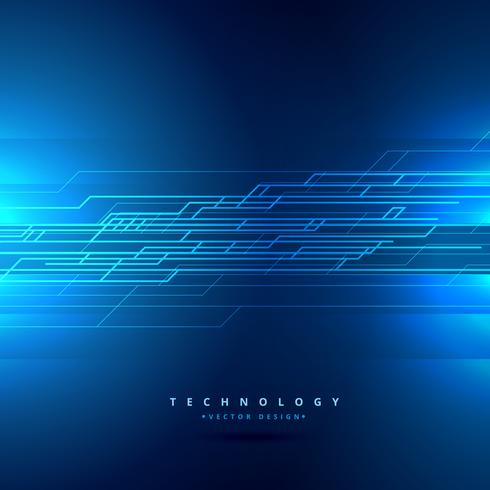 technology background with abstract lines vector design illustra