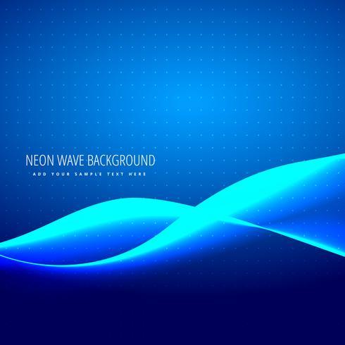 vague bleu néon