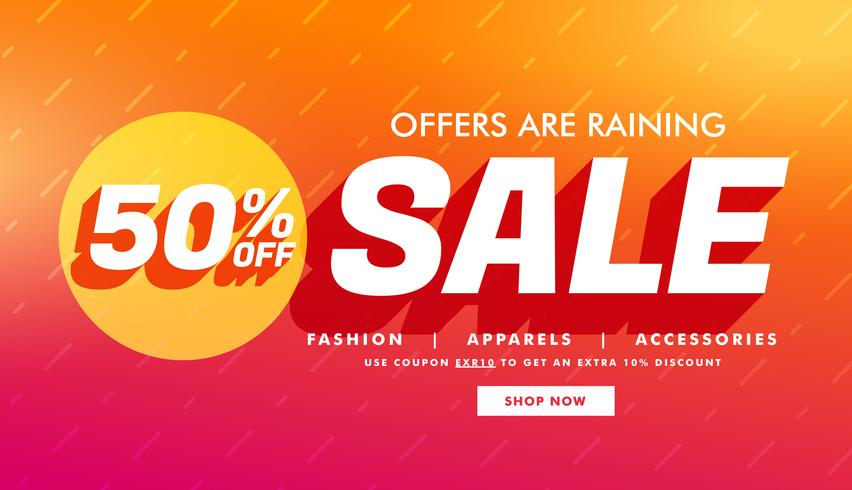 sale promotional template with offer details for your brand