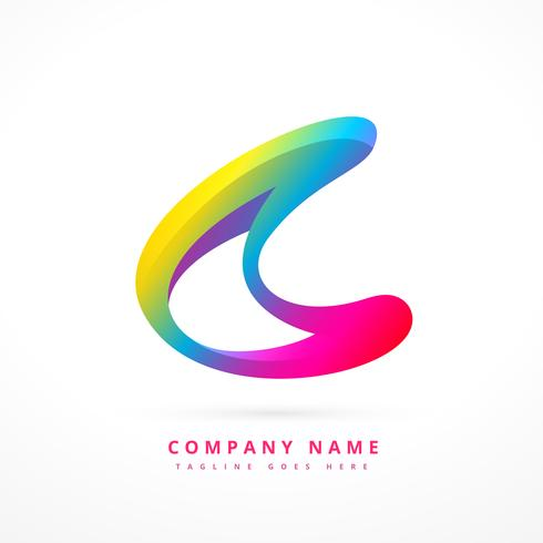 creative colorful logo template design download free vector art