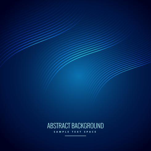 abstract blue background with wave lines