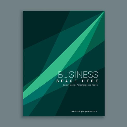 creative green abstract brochure flyer cover template design in