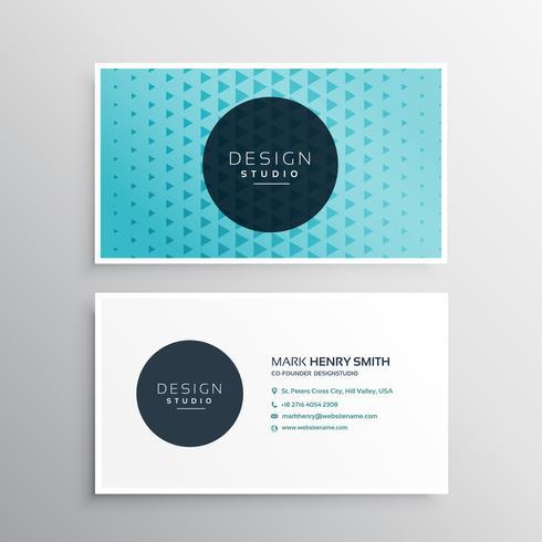 beautiful modern blue business card template