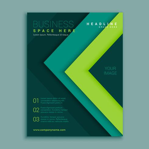 green geometric flyer poster design template download free vector