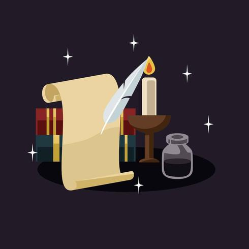 Scribe Illustration Vector