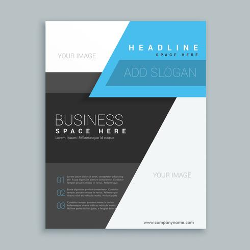 modern geometric shape business brochure template