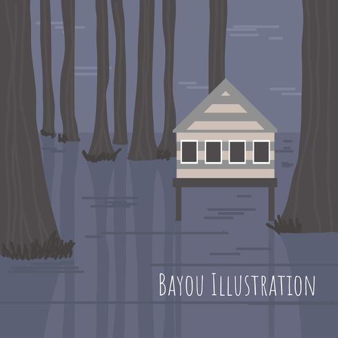 Illustration vectorielle de Bayou vecteur