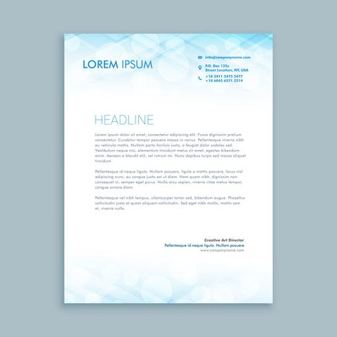 coporate business letterhead template vector design illustration
