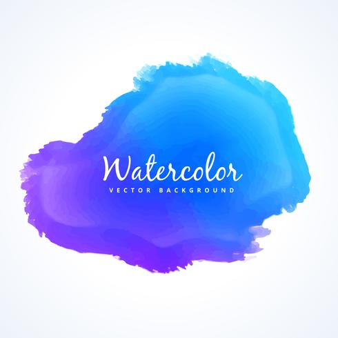 blue watercolor paint stain vector design illustration