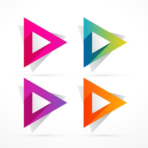 abstract colorful triangle shape design illustration