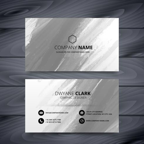 grunge style business card design template