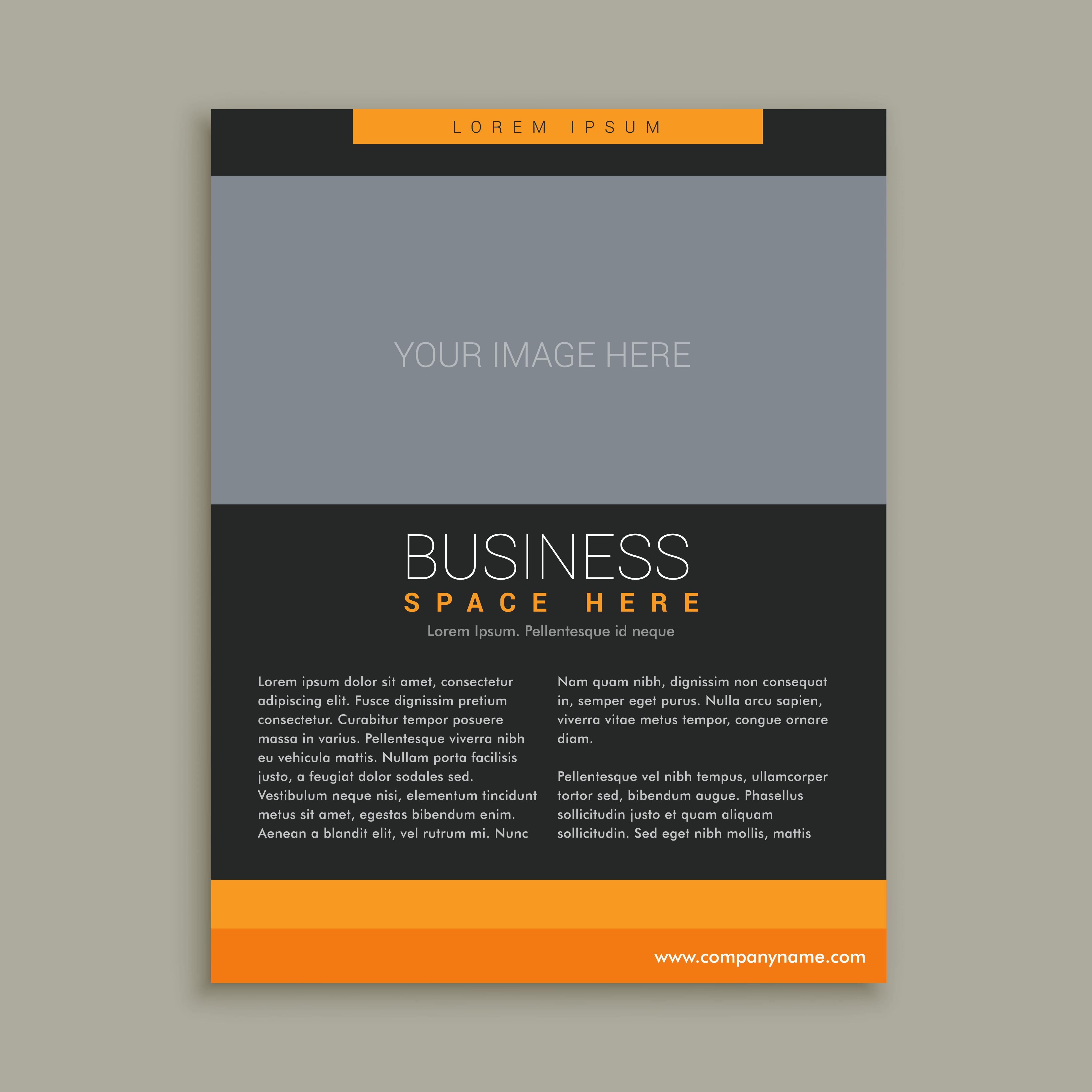 business brochure template in yellow and black color