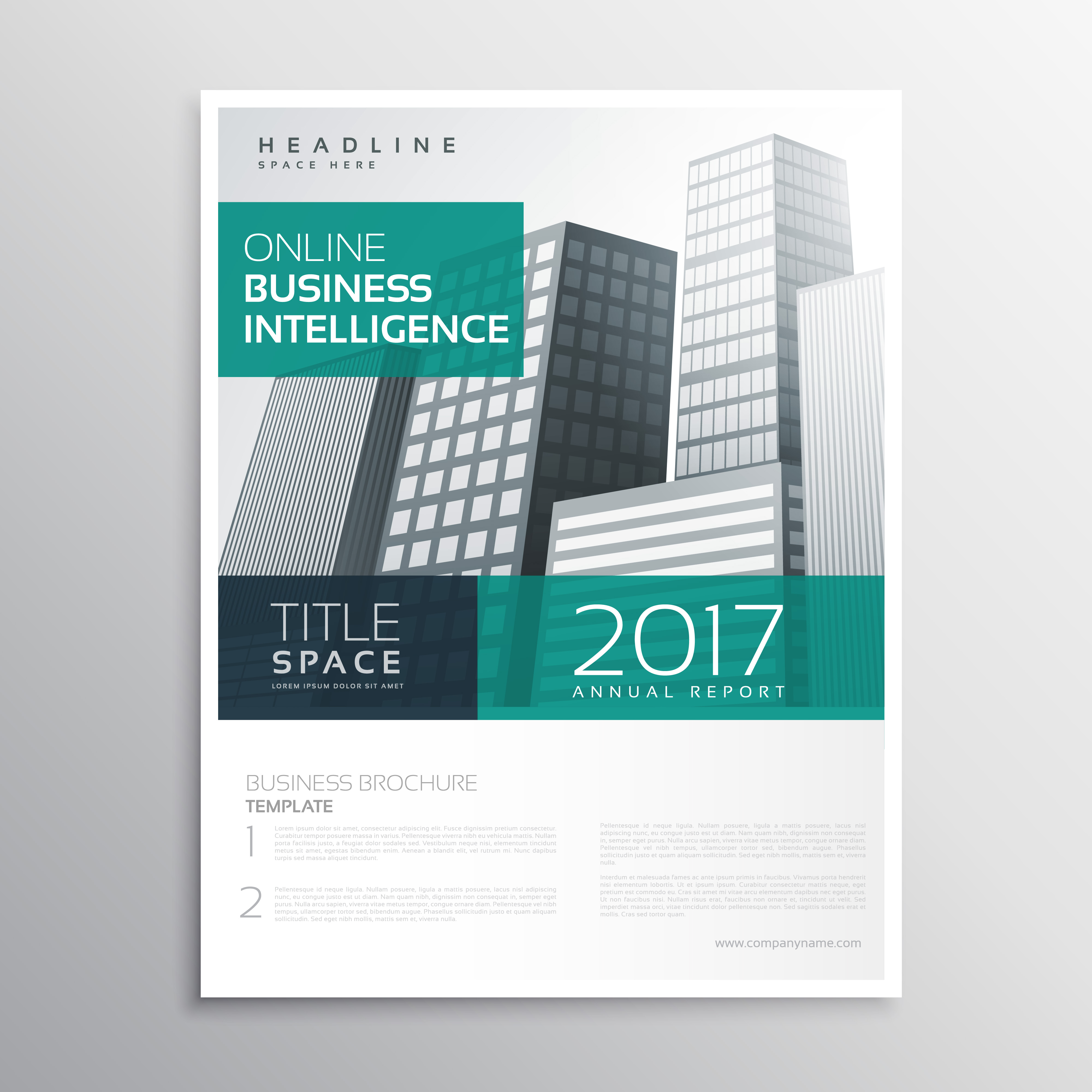 Company Business Brochure Template Design With Buildings