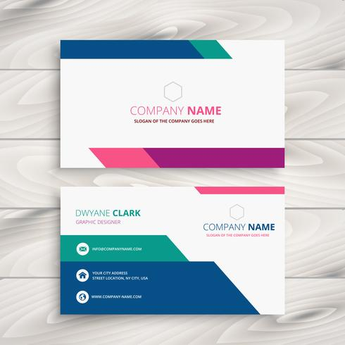 creative business card template vector design illustration