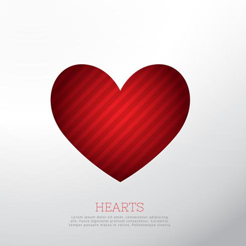 red heart isolated on white background