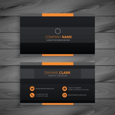 dark modern business card vector design illustration