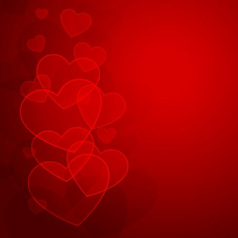 hearts background for valentine day vector design illustration
