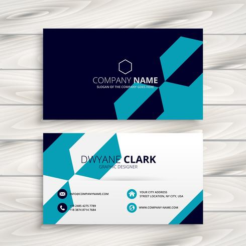 elegant business card design template vector design illustration