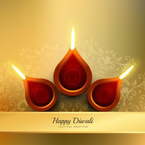 Diwali festival diya vector design ilustração