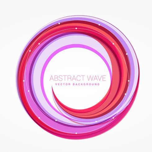 abstract wave swirl colorful vector background